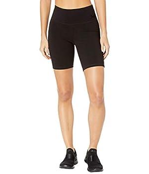 Juicy Couture Women s Essential Cotton Long Bike Short Deep Black X-Large