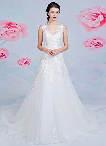 Brautkleid mit A-Linie-Silhouette und V-Ausschnitt - 2