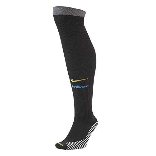 NIKE Inter U Stad OTC Sock 3R Socks, Unisex Adulto, Black/Dark Grey/Blue Spark/Tour Yellow, L