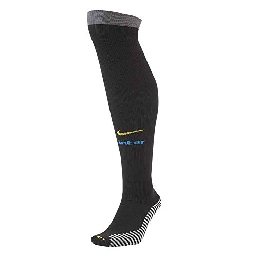 Nike INTER U STAD OTC SOCK 3R, Calzini Unisex – Adulto, black/dark grey/Blue spark/(tour yellow), S