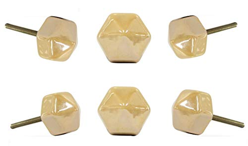 Ivory Ceramic Knobs - 5