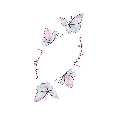 6 feuilles minuscule papillon autocollants de tatouage temporaire pour femmes filles Fête costumée couvrant les cicatrices Décor Art Corporel