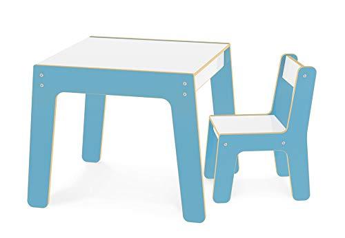 Conjunto Mesa + Cadeira Infantil em MDF, Junges, Azul