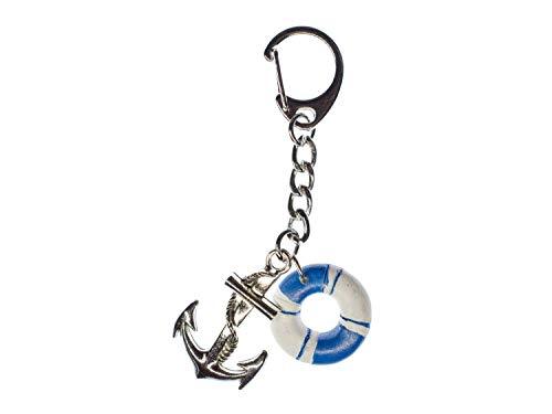 Miniblings Anker Rettungsring Schiff Boot Schlüsselanhänger - Handmade Modeschmuck I Anhänger Schlüsselring Schlüsselband Keyring - Anker Rettungsring Schiff Boot
