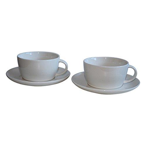Starbucks Fore Here Collectors - Juego de 2 tazas de café/té, color blanco