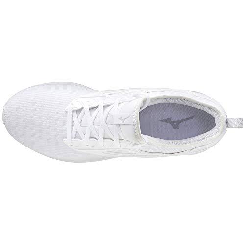 Mizuno EZRUN CG (Unisex), Scarpe da Running Adulto, Bianco (White Nimbuscloud), 43 EU