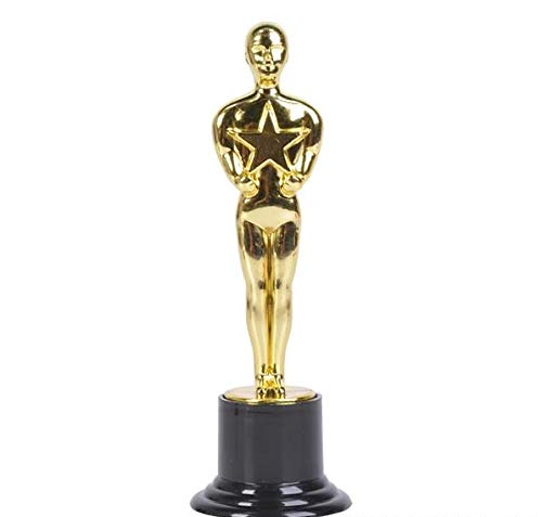 Rhode Island Novelty Movie Award Plastic Gold Color Statue for Hollywood Movie Award Party Favor or Decoration
