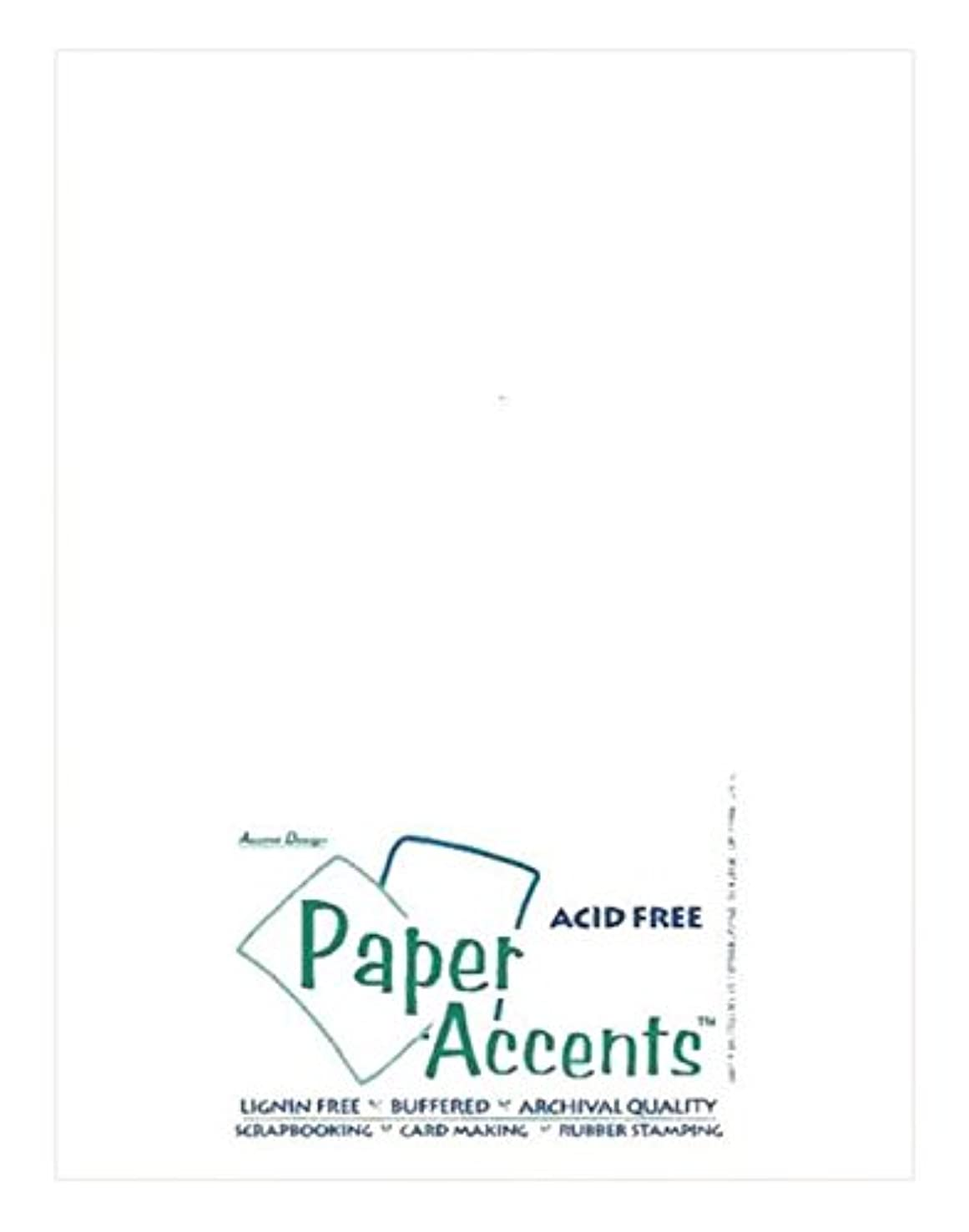 Accent Design Paper Accents Cdstk Smooth 8.5x11 65# White Bulk