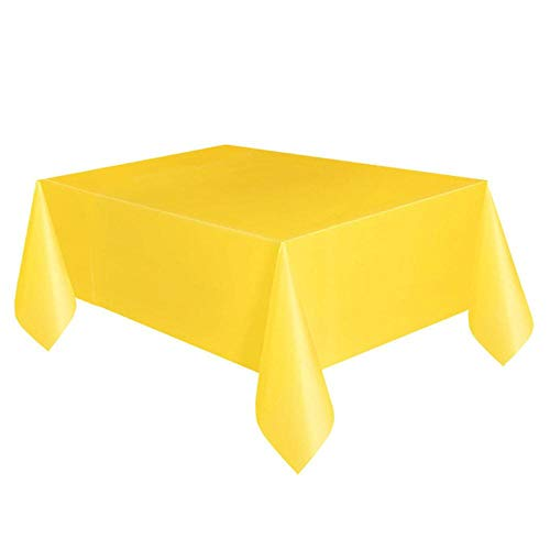 EDCV tafelkleed verjaardagsfeestje tafelkleed voor rechthoekige tafel Tuindecoratie 137cm * 183cm bruiloft-decoratie plastic mintgroen, 08