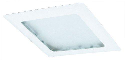 Elco Lighting EL10W 8' Square Trim with Prismatic Glass Lens - EL10, white