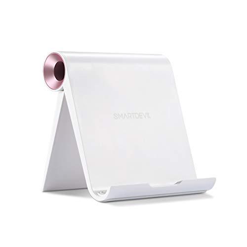 タブレットスタンド SmartDevil スマホホルダー すまほすたん卓上折りたたみ式 角度調整可能 4~12.9インチの iPad Pro 11 / 10.5 / 9.7, Pad Mini 5 4 3 2, Pad Air 3 2 1, iPhone