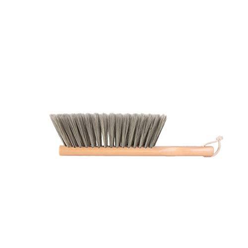 longsing Cepillo de Limpieza Multifuncional Manija de Madera Larga Handheld Comfort Grip Brush Brush Bed Cepillo Colgador de Almacenamiento Adecuado para Uso doméstico