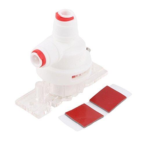 DealMux inversa de Agua Detector de Fugas purificador Montaje del Interruptor de protección Conector Blanco Rojo