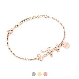 FLORA Brautjungfer Armband mit Namen Gravur | Personalisierte Geschenke | Brautjungfer fragen | Personalisierter Schmuck…
