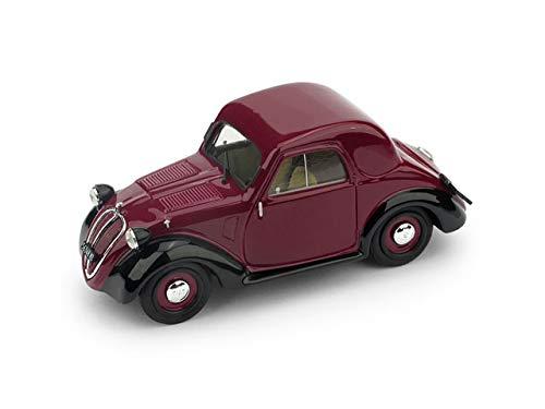 FIAT 500A TOPOLINO 1a SERIE TETTO METALLICO 1936 AMARANT/BLACK 1:43 - Brumm - Auto d'Epoca - Die Cast - Modellino