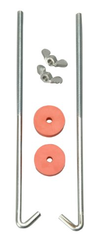 Road Power 966-8 J Hook Battery Hold down bolts, 2-Pack, Chrome, 8-Inch