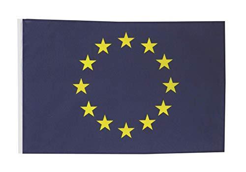 FlagSuperstore© EU-Bootsflagge der Europäischen Union, 45,7 x 30,5 cm, Baumhäuser, Wohnwagen – Ärmel 45 x 30 cm – Land