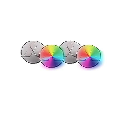 WHALLO La luz del Eje Luminoso del Coche es Adecuada para la luz de la Cubierta del Eje de levitación magnética Mitsubishi Outlander Wing God Deslumbrante Pajero ASX Rueda Luminosa del Coche 60 mm
