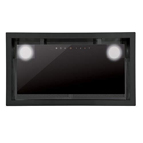 Allcata DUAL BK 45 Dunstabzugshaube 50 cm Lüfterbaustein Unterhaube Touch Control ECO LED-Beleuchtung 4 Leistungsstufen Extra leiser Motor 1200 m³/h (freier Auslass) / 50 dB für Abluft und Umluft