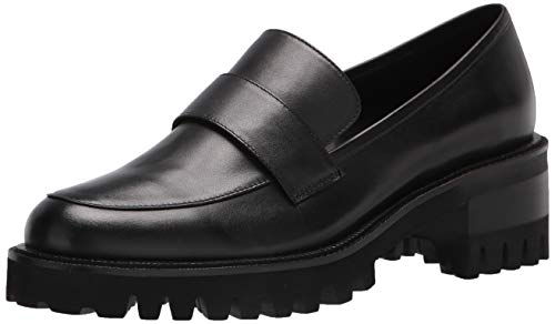Aerosoles Women's Ronnie Loafer, Black Leather, 7.5