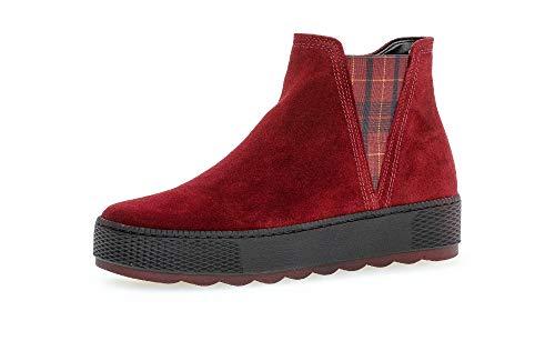 Gabor Damen Stiefeletten, Frauen Chelsea Boots,Comfort-Mehrweite,Reißverschluss,Optifit- Wechselfußbett, Stiefel,dk-ope(Sr/s/Kar/Me,37 EU / 4 UK