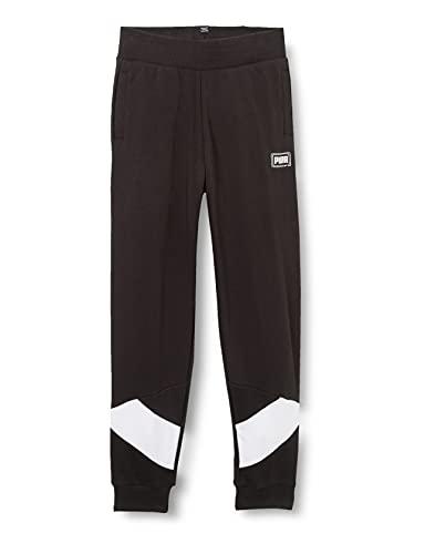 PUMA Jungen Rebel Pants cl TR B Jogginghose, Black, 176