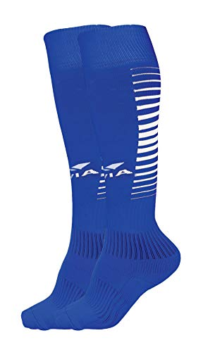 Nivia 727 Encounter Polyester Football Stocking, Large (Royal Blue/White)
