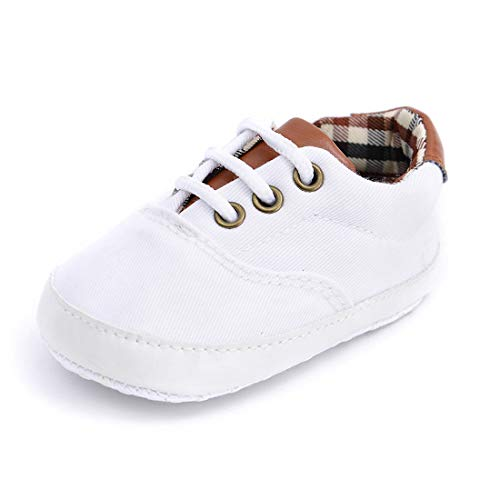 White Canvas Baby Shoes