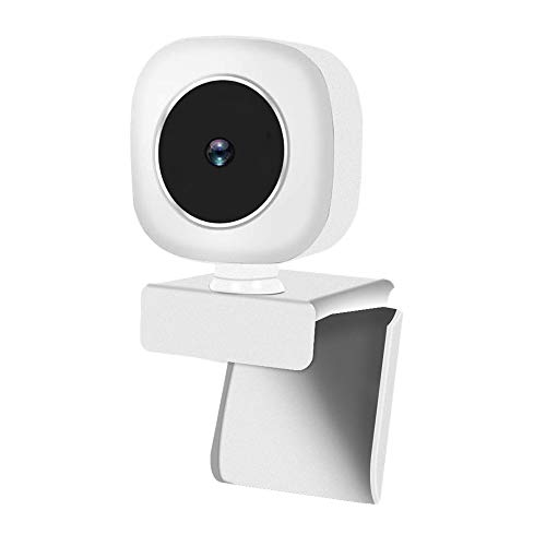 Fransande 2K Auto Focus 5 MP - Cámara de vídeo Full HD para PC USB Plug & Beauty Effect Fill Light (blanco)