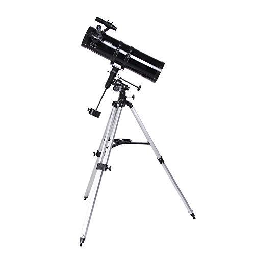 QQLK Telescopio AstronóMico 150/750 EQ Telescopios Reflectores con TríPode Ajustable