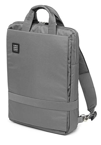 Moleskine ID Collection Borsa a Tracolla Verticale Device Bag per Pc, Tablet, Notebook, Laptop e iPad fino a 15'', Dimensioni 30 x 10 x 38 cm, Colore Grigio Ardesia