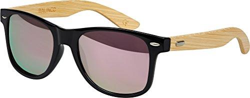Bambus Holz Nerd Sonnenbrille Retro Vintage Unisex Brille mit Federscharnier
