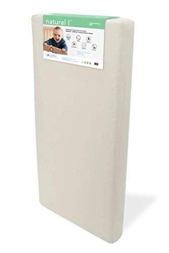 Natural I Crib Mattress by Colgate Mattress | All-Natural, Eco-Friendly Coir Fiber Materials | Hypoallergenic | Organic Cotton Cover
