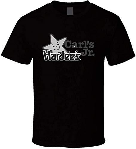 Carls Jr Hardees - Camiseta, Negro, Small