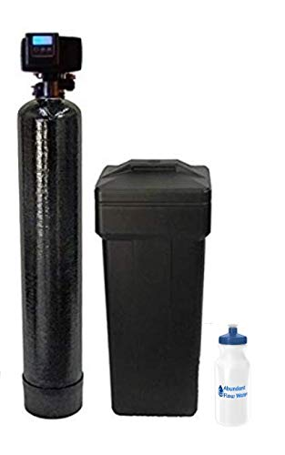 Fleck WS48-56SXT AFW Filters 5600SXT 48k with 1' Bypass Best Selling Softener Digital SXT Metered Whole House System-Includes Water Bottle with Install kit, Black