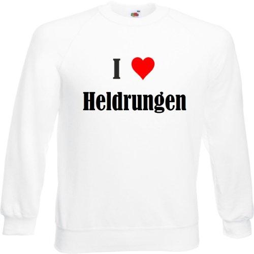 Reifen-Markt Sweatshirt I Love Heldrungen Größe 2XL Farbe Weiss Druck Schwarz