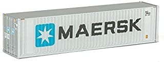 Walthers   Scenemaste r HO Scale Model o  Maersk 40' Hi Cube Ribbed Side Container