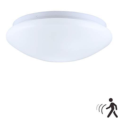 Bewegungssensor Deckenleuchte, 20w Badezimmer Deckenleuchte Mit 360 ° Bewegungssensor, 1000-2000lm Superhelle LED-Deckenleuchten für Badezimmer Schlafzimmer Keller (6000k)