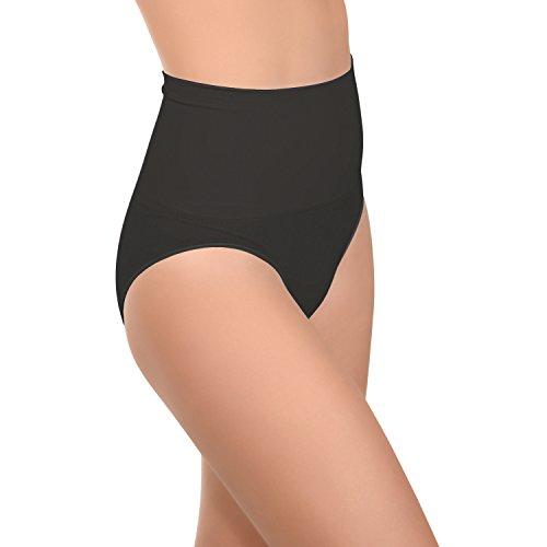 Celodoro Damen Form-Slip - Seamless Unterhose mit Shaping-Effekt - Schwarz L