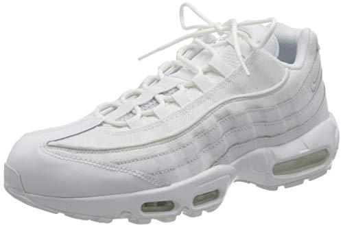 Nike Air Max 95 Essential, Scarpe da Corsa Uomo, White/White-Grey Fog, 44 EU