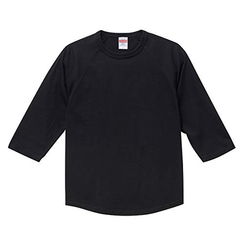United Athle ユナイテッドアスレ 5.6オンス ラグラン 3/4スリーブ Tシャツ [5045](XL ブラック)