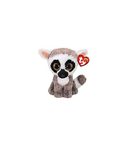 Ty UK Ltd 36224 Linus Lemur - Gorro de Peluche (15 cm)
