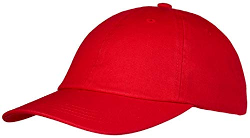 Pembroke® Dad Cap, Classic Sports Cap, Baseball Cap, Washed Cotton für Damen und Herren, Rot