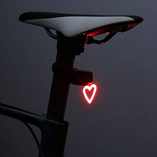 SFWJ AYSMG Multi Lighting Modes Bicycle Light USB Charge Led Bike Light Flash Tail Lights for Mountains Bike Seatpost(Heart) (Color : Heart)