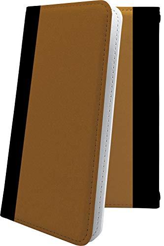 スマートフォンケース・jetfon P6・互換 ケース 手帳型 おしゃれ 茶色 ジェットフォン かっこいい jetfonp6 ボーダー マルチストライプ