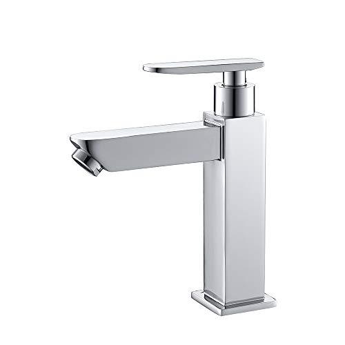 Aihom Kaltwasserhahn Kaltwasser Armatur Bad Wasserhahn Einheblarmatur Waschtischarmatur Badarmaturen Waschbeckenarmatur für Badezimmer Chrom