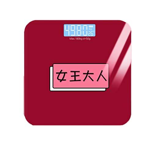 Weegschaal gewicht meter impedantie meter lichaamsvetweegschaal USB oplaadbare digitale bad draadloze verzending vriendin 180kg klein