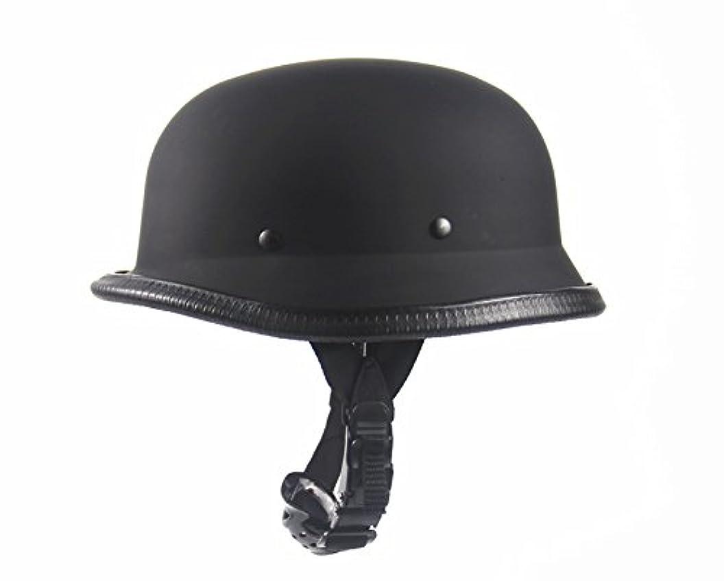 保安孤独な物理バイクヘルメット ハーフ セール ヘルメット 半帽ヘルメット 夏用ヘルメット 軽便 通気 パイロット ブラック