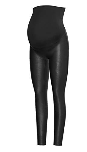 SPANX Mama Faux Leather Leggings Very Black SM