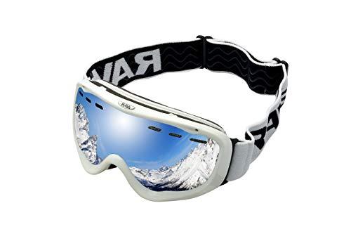 Ravs Damen Skibrille Frauenbrille Schutzbrille Schneebrille auch für Brillenträger (in)